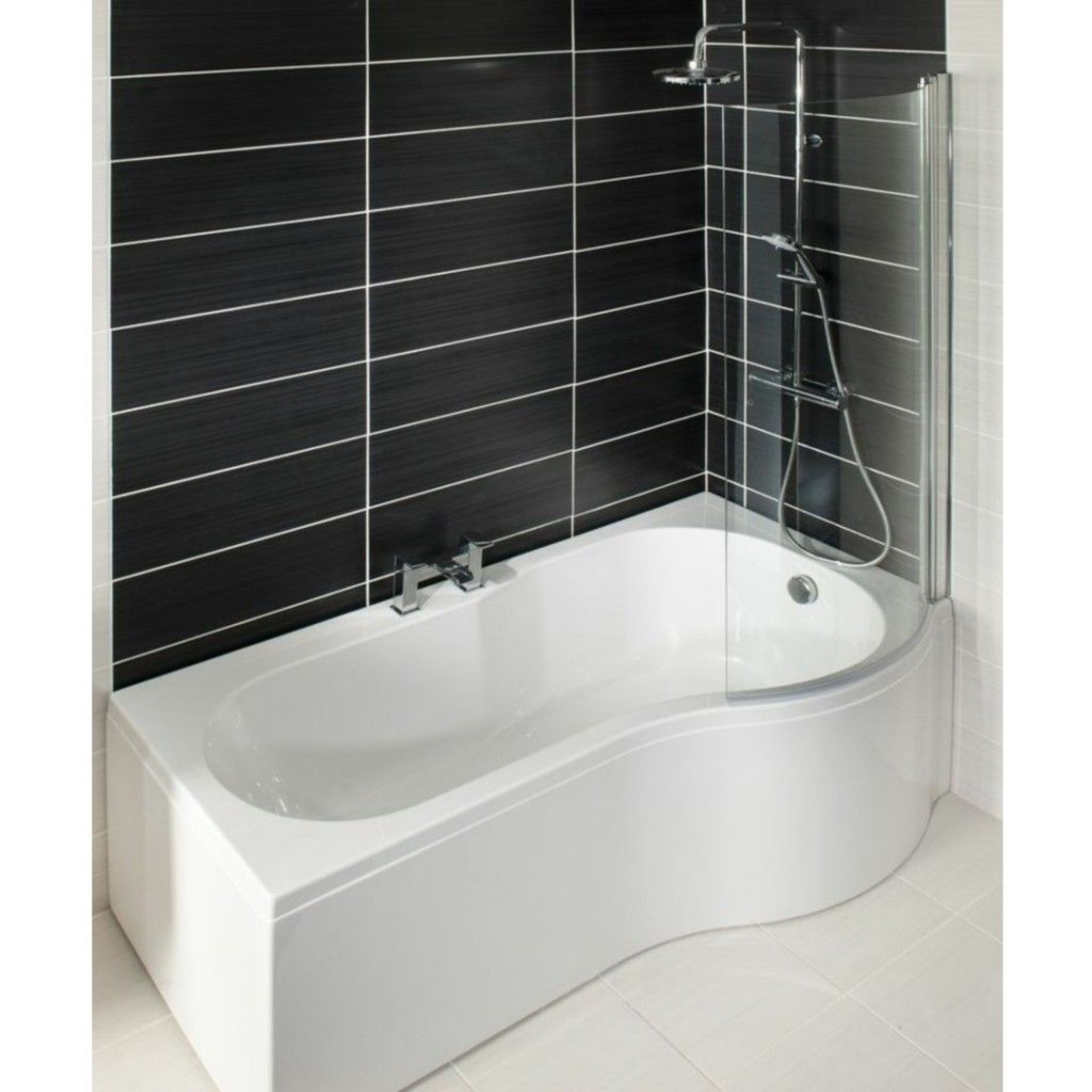 Cassellie P Shaped Shower Bath (Image shown as right hand)   욕실 ...