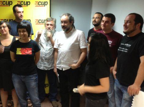 Antonio Baños, Anna Gabriel i Josep Manel Busqueta encapçalen la llista de la CUP - elsingular.cat, 30/07/2015