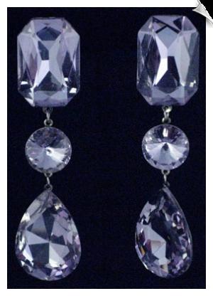 Lavender Cubic Zirconia CLIP ON Earrings $68 @ www.whimzgirlclipearrings.com