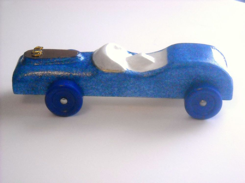 Pinewood Derby  Blue and Copper Car #MooreMagic