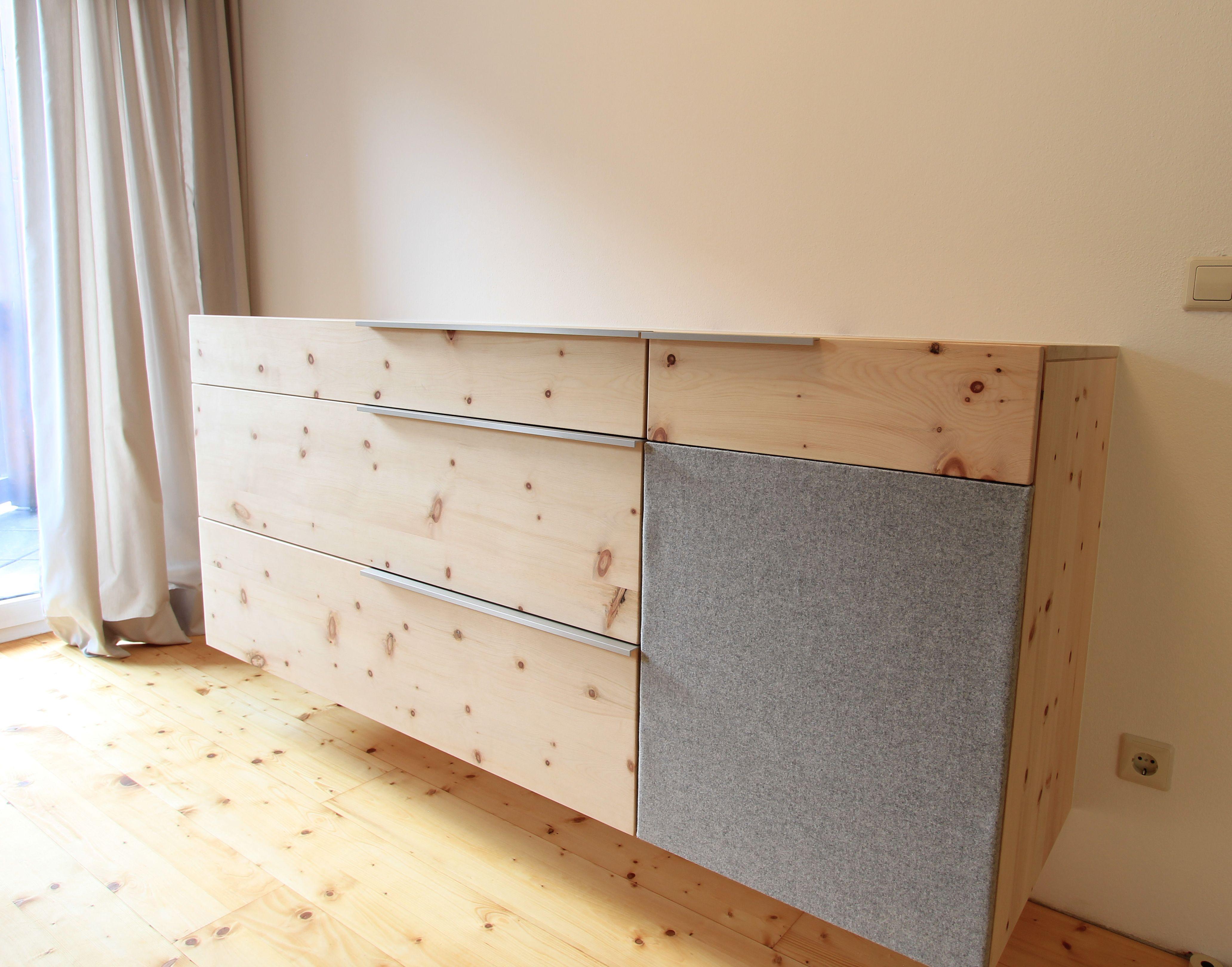 kommode aus zirbenholz mit highlight aus lodenstoff wohnen pinterest highlights. Black Bedroom Furniture Sets. Home Design Ideas