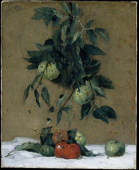 """Fruit"", (1888),óleo sore tela do americano Julian Alden Weir"