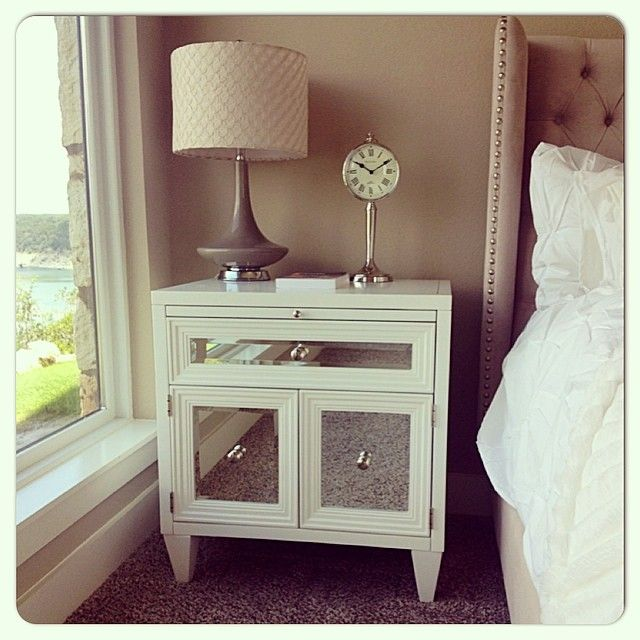Our Concerto Nightstand & Jameson Bed make any bedroom blissful