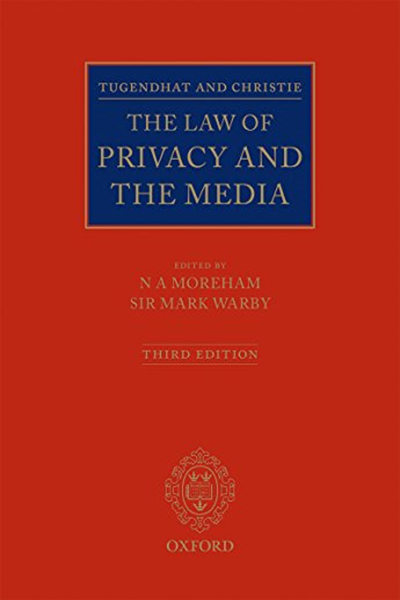 2016 Tugendhat And Christie The Law Of Privacy And The Media By