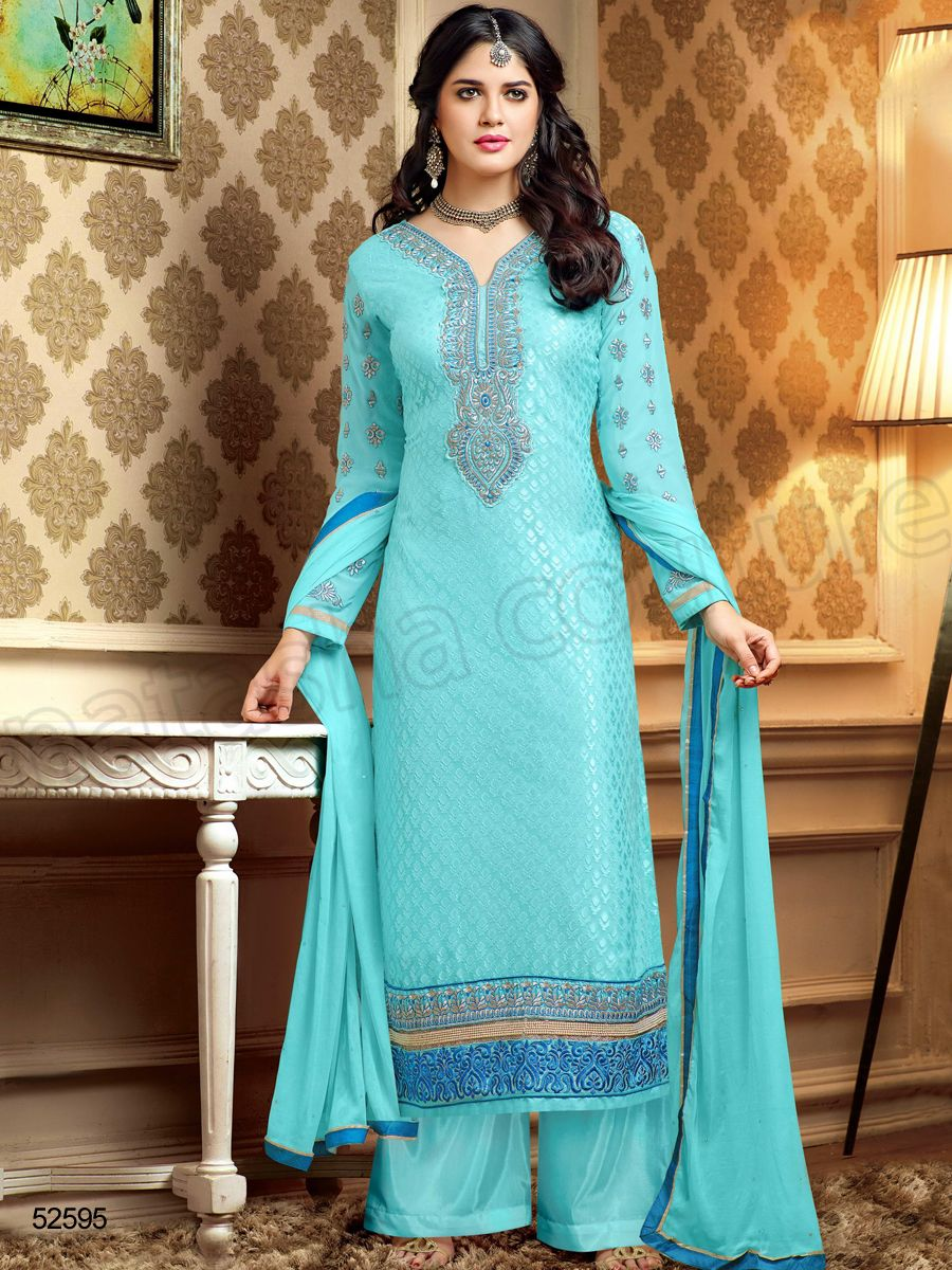 Designer Staright Suits#Indian Wear#Desi Fashion #Natasha Couture ...