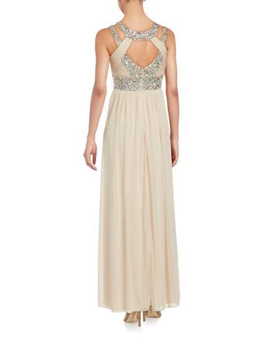 Brands Evening Formal Cutout Front Chiffon Gown Lord And