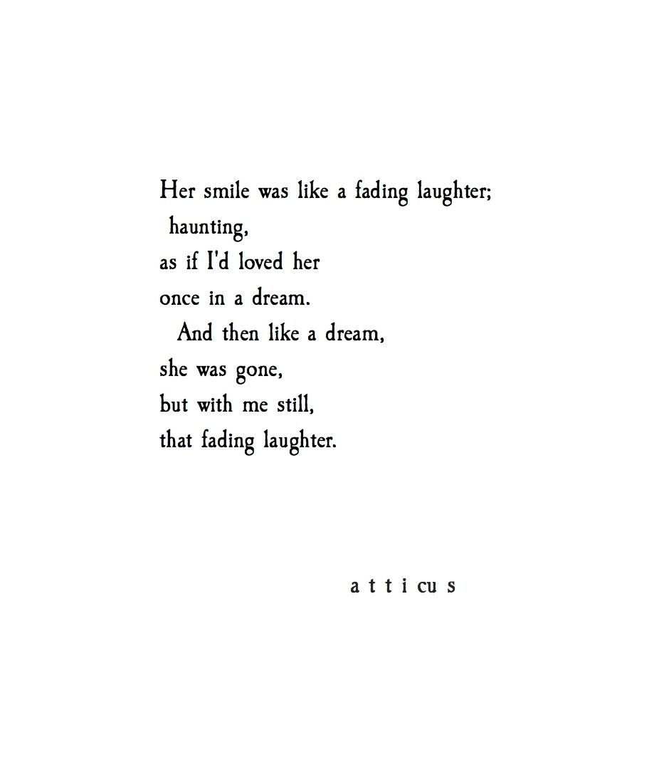 I Love You Quotes: 'Fading Laughter' @atticuspoetry #atticuspoetry
