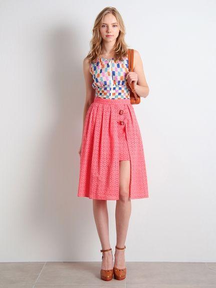サイドスリットスカート(膝丈スカート)|Lily Brown(リリーブラウン)|ウサギオンライン公式通販サイト