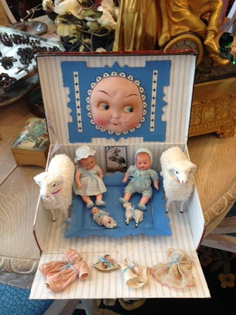 2 baby dolls and two candy container sheeps plus extra - Bbs dollhouse ...