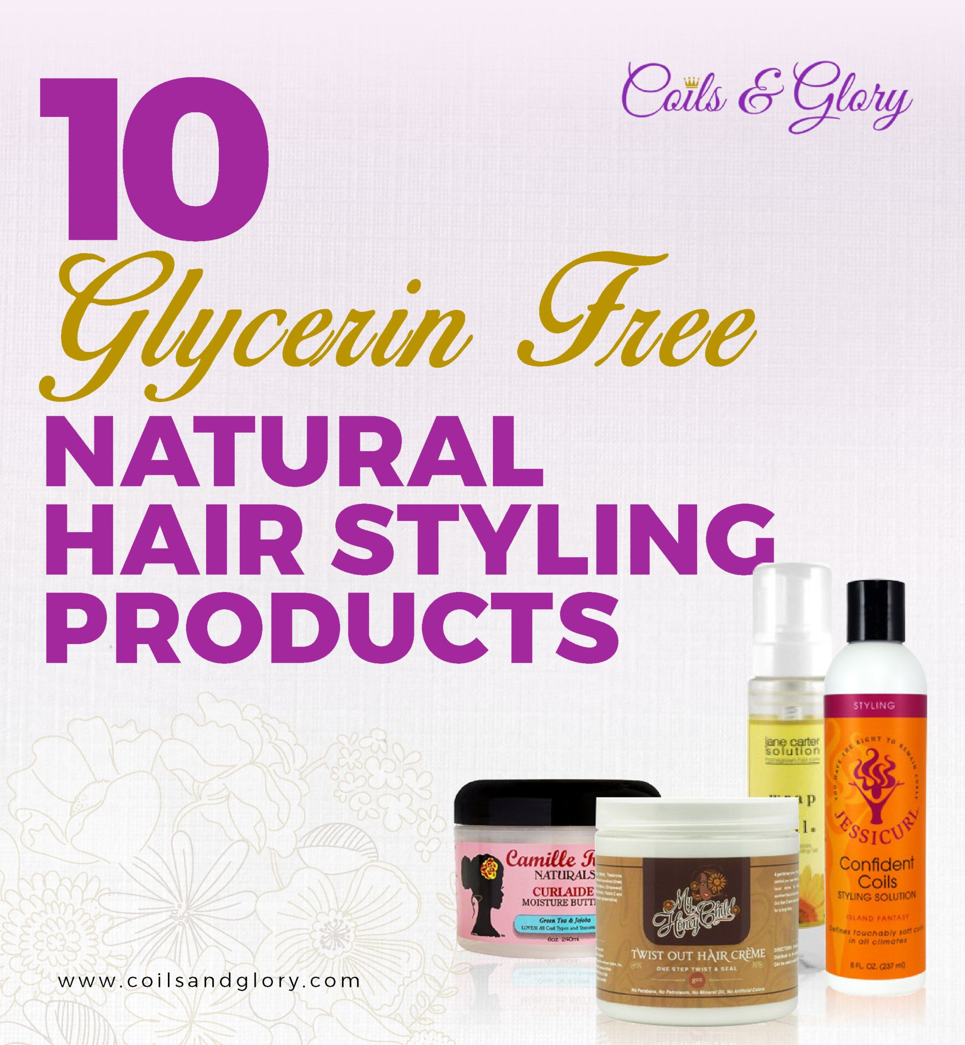 glycerin free natural hair styling products humectant natural