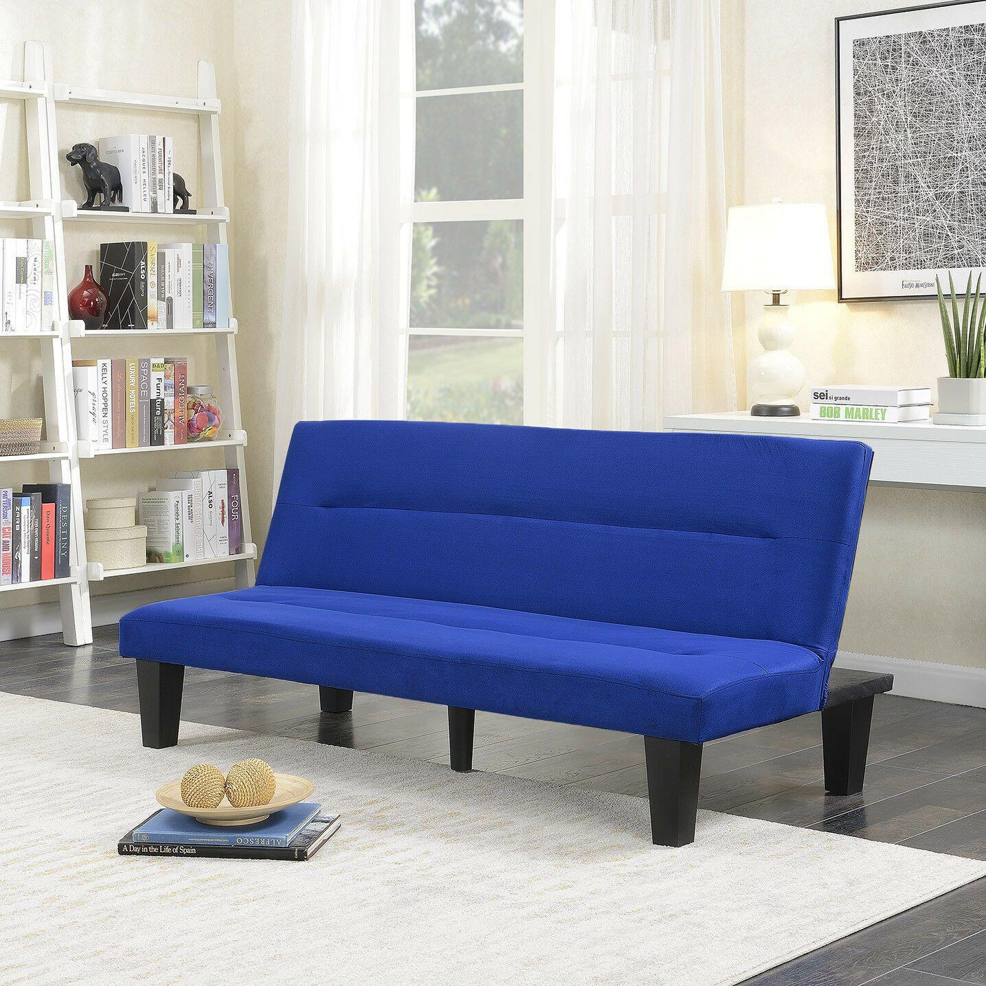 Microfiber Futon Folding Couch Sofa Bed Sleep Recliner