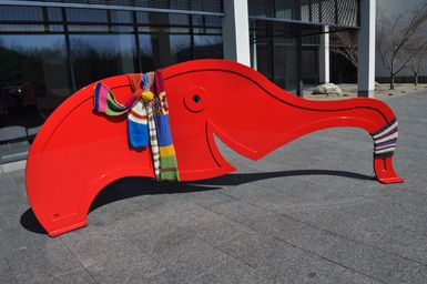 We love when people ask us the hard questions, like how much yarn do I need for a scarf for a big red elephant?