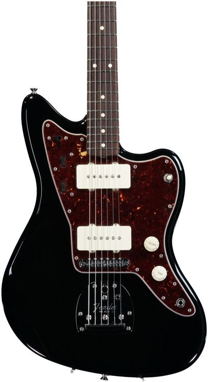 Solidbody Electric Guitar with Alder Body, Maple Neck, Rosewood Fingerboard, and 2 Single-coil Pickups - Black