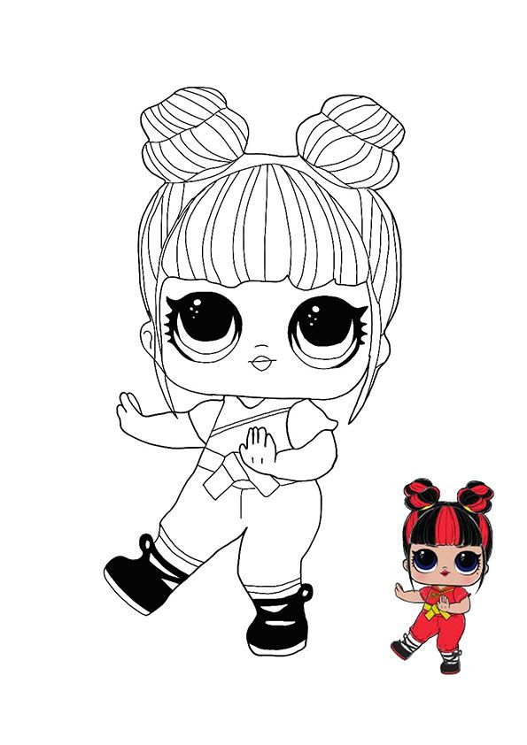 Lol Surprise Hairvibes Blackbelt Coloring Page Cute Coloring Pages Free Coloring Pages Unicorn Coloring Pages