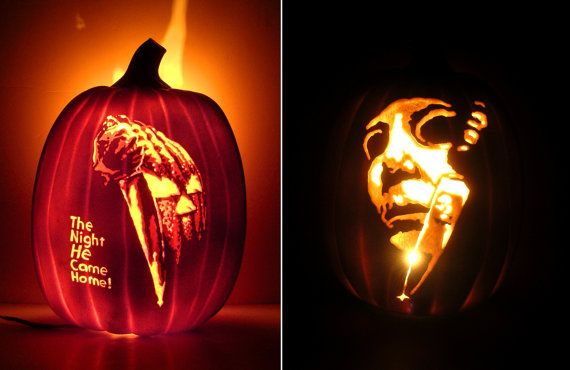 halloween 1978 pumpkin template  Double-Sided HALLOWEEN 5 / Michael Myers by KiNoKoSHOP on ...