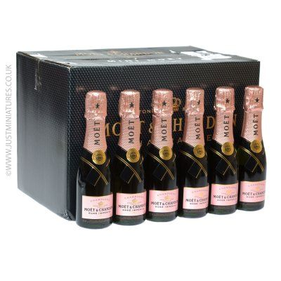 Moet Chandon Rose Imperial Champagne Miniature 200ml 24 Pack Mini Champagne Favors Champagne Favors Mini Champagne