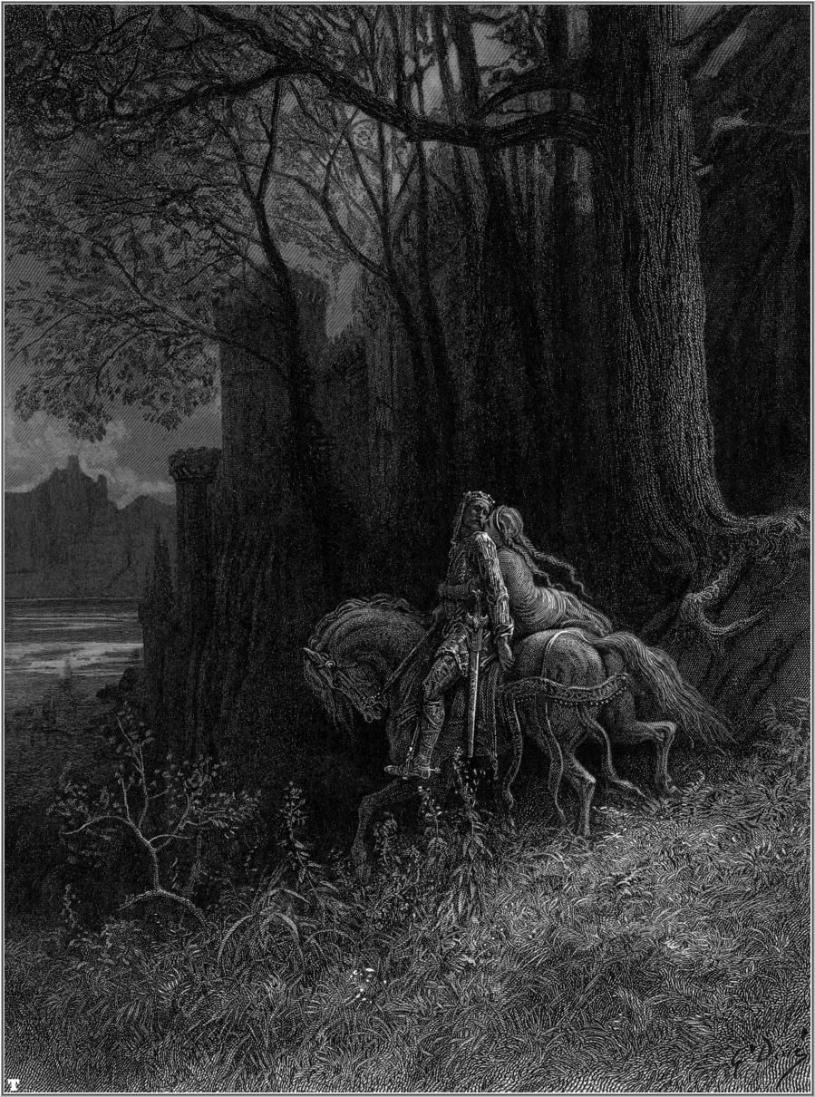Geraint and Enid Ride Away - Gustave Dore | Gustave Dore ...