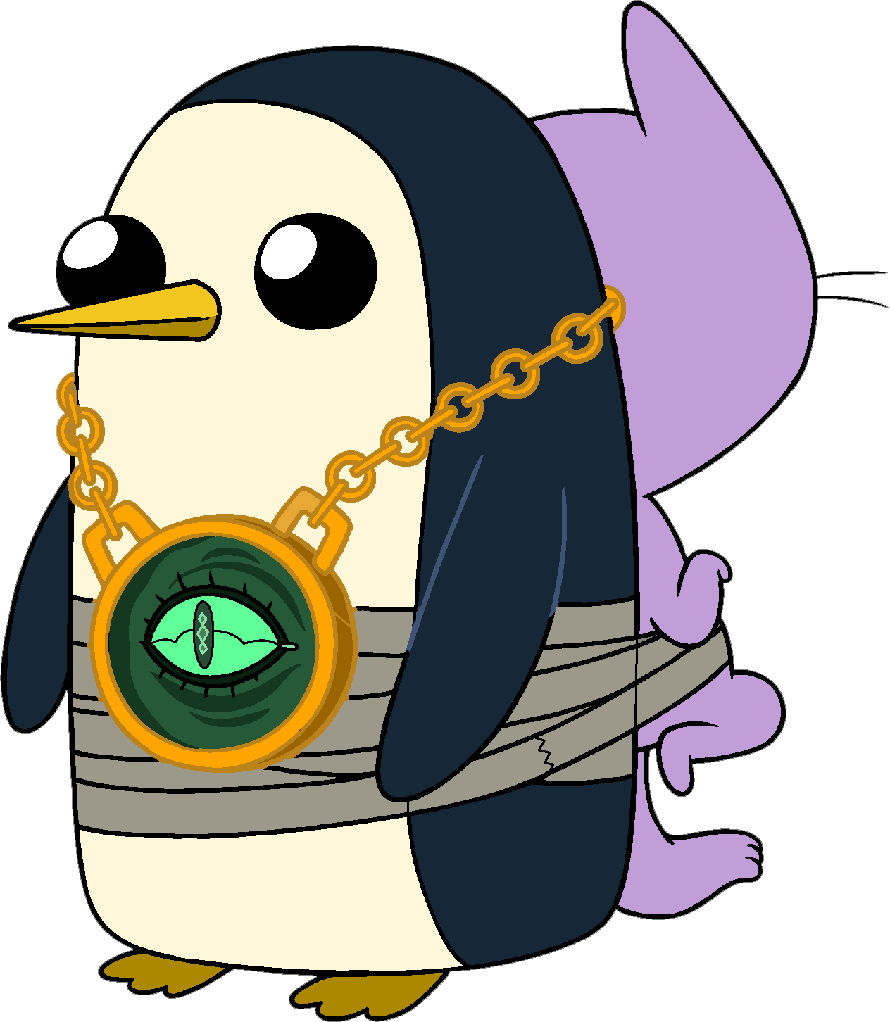 Gunter Wearing Kitten And The Demonic Wishing Eye Adventure Time Characters Adventure Time Gunter Adventure Time