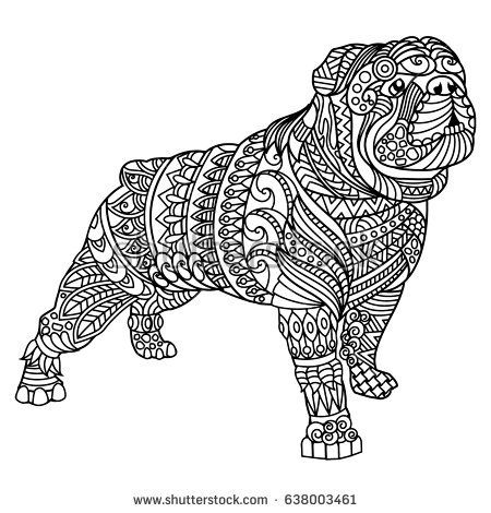 Bulldog Coloring Book For Adults Dog Coloring Page Animal