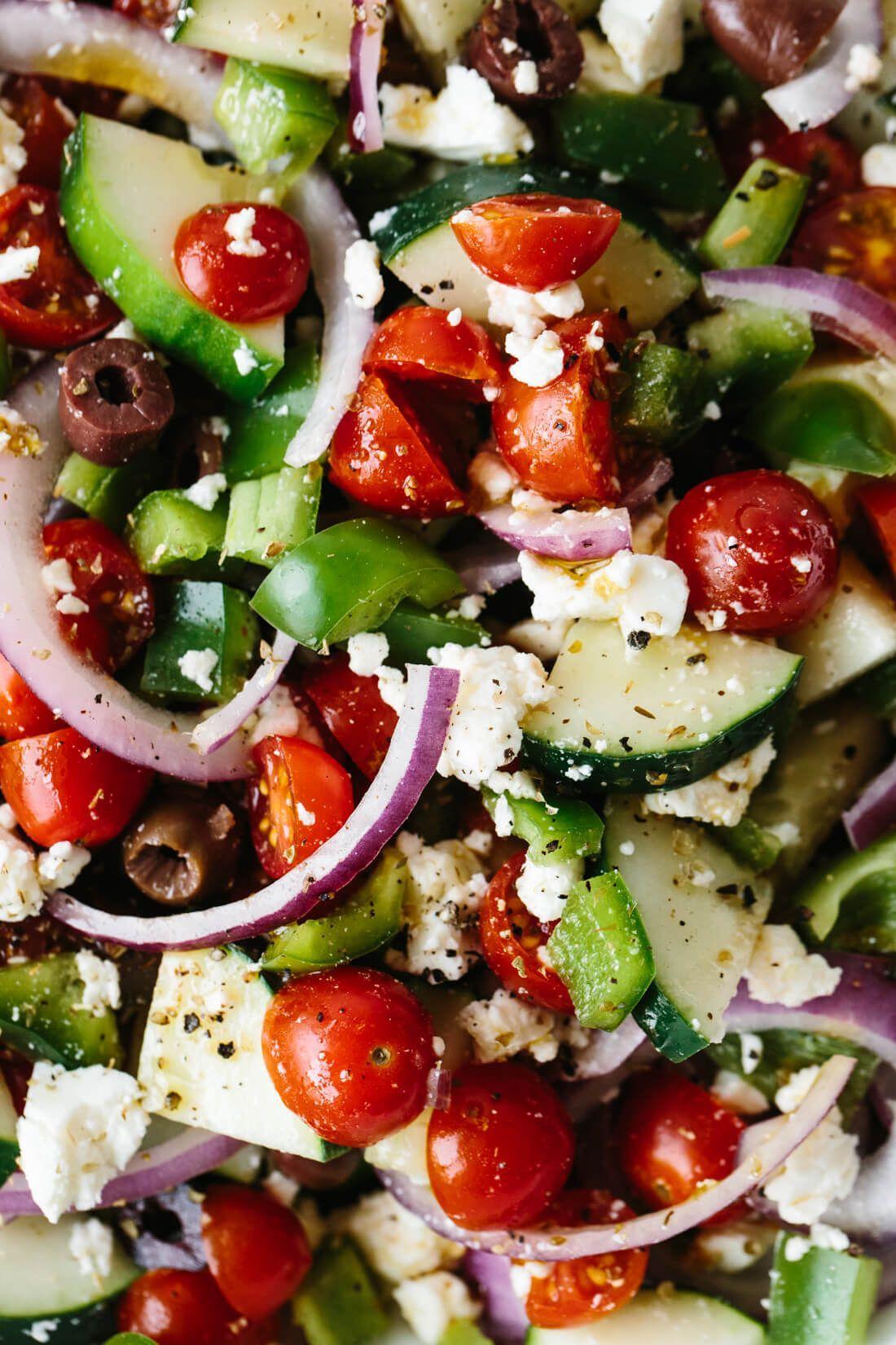 Griechischer Salat (das klassische Rezept) | Downshiftologie