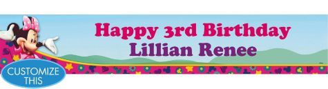 Minnie Mouse Custom Banner 6ft - Party City