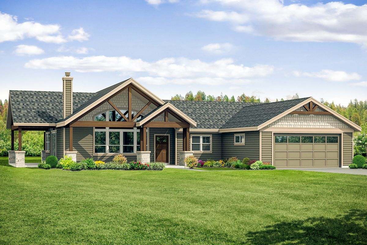 Plan 72932da Craftsman Ranch Home Plan With Vaulted Covered Patio Ranch House Plans Country Style House Plans Craftsman House Plans