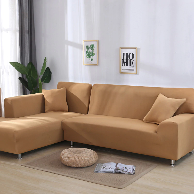 Solid Color Corner Sofa Covers For Living Room Elastic Spandex Slipcovers Couch Cover Stretch Sofa Towel In 2020 Corner Sofa Covers Cushions On Sofa Living Room Chaise