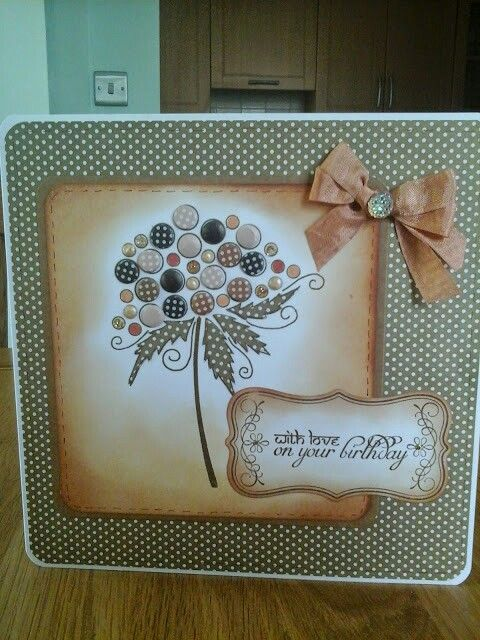 Bubble bloom stamp , candi , paper peicing