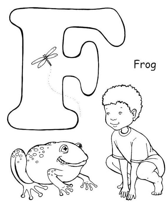 Yoga Pose Like A Frog Letter F Coloring Page Yoga Coloring Book Coloring Pages Yoga For Kids
