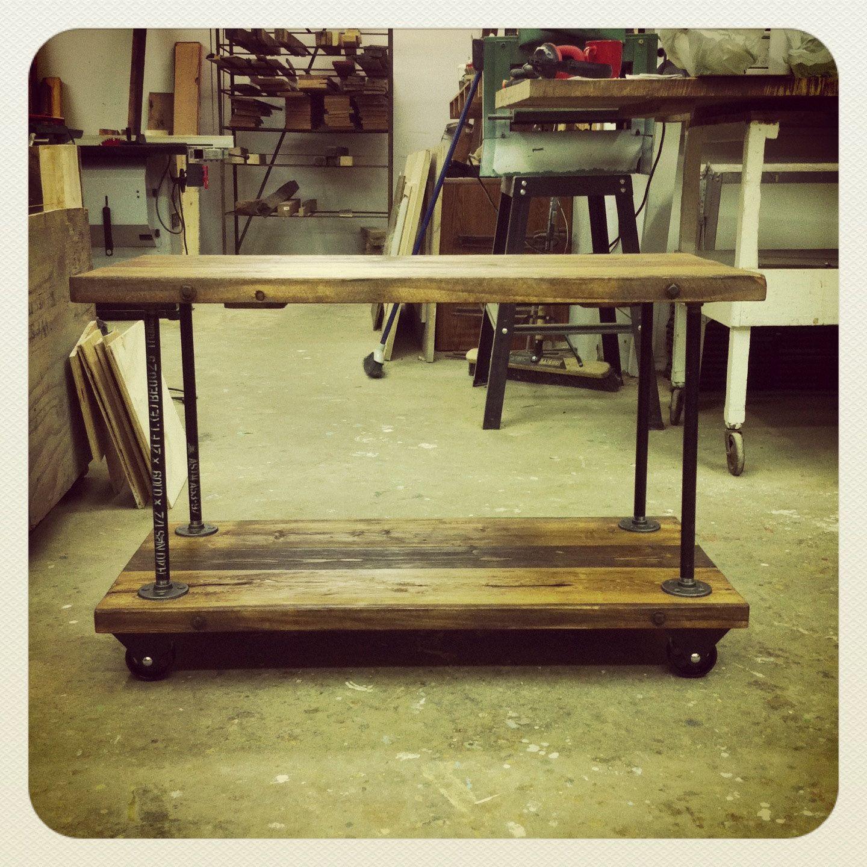 Industrial Cast Iron Pipe Flange Shelves. $40.00, Via Etsy