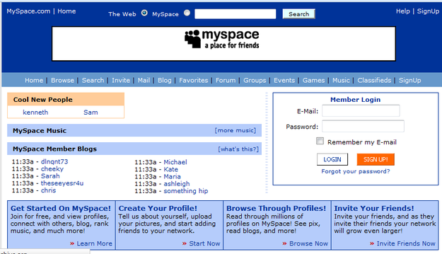 When it came to social networks there was only one name: Myspace. | 10 Years Ago, This Is What Summer Looked Like