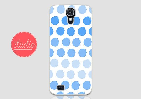 Blue WATERCOLORED POLKA DOTS - Samsung Galaxy s4, Galaxy s3