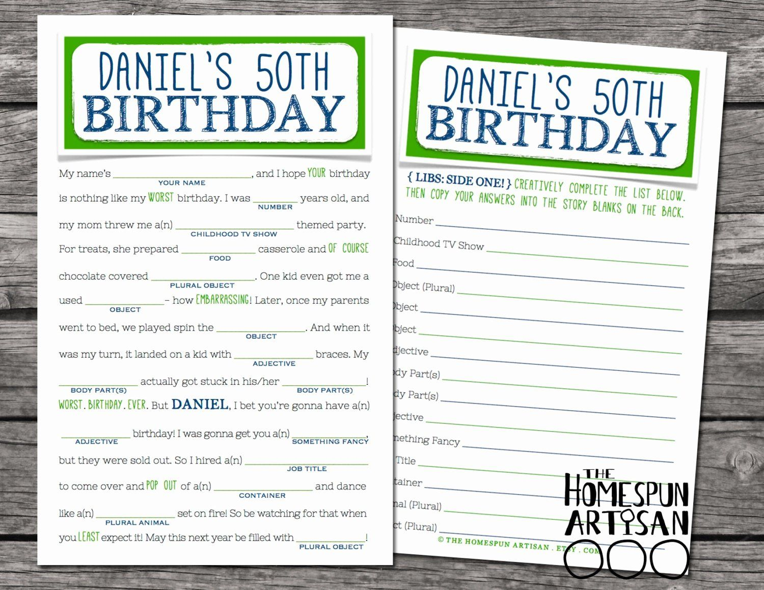 Birthday Mad Libs Printable Elegant Adult Birthday Mad