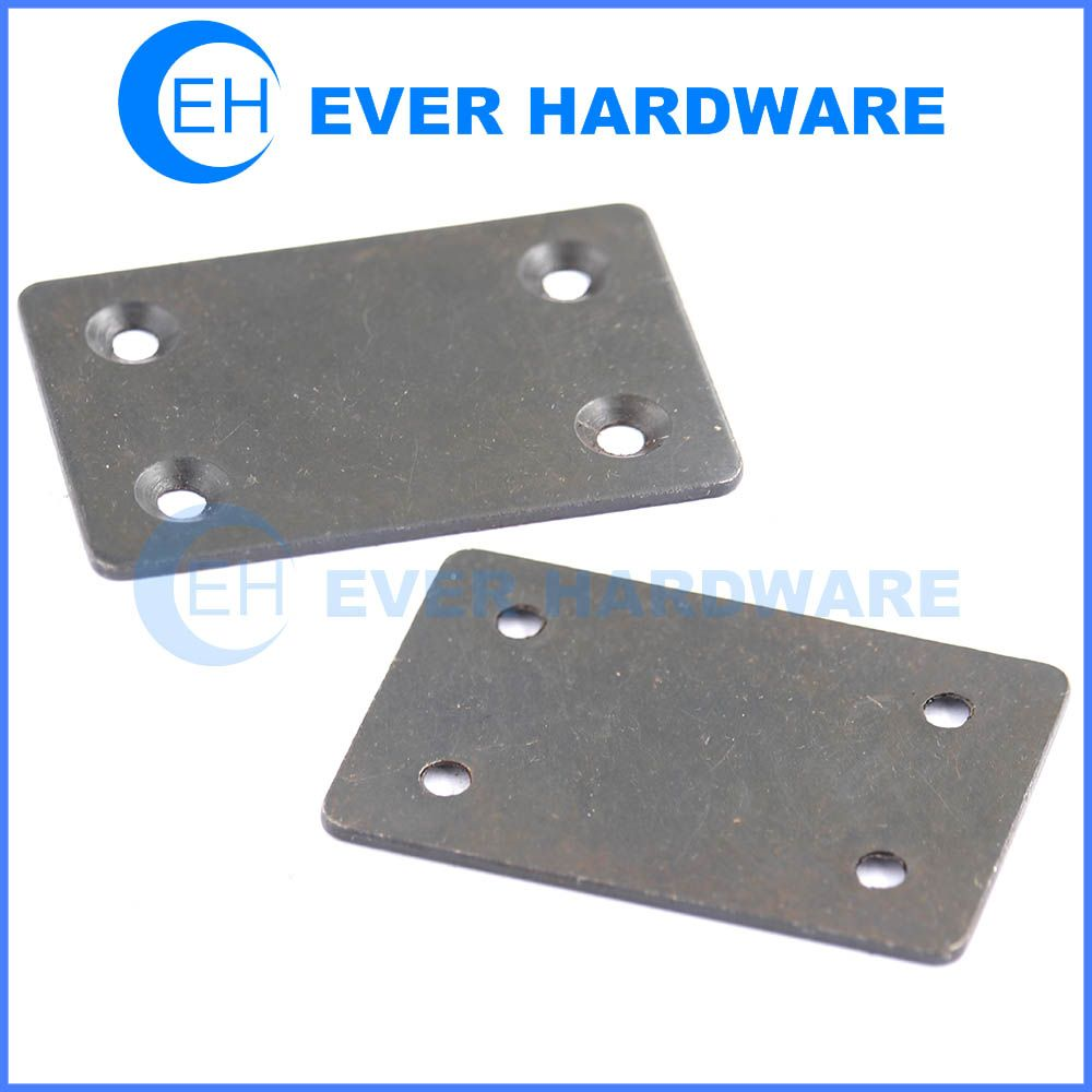 Metal Plate Black Galvanized Sheet Metal Holes Attached