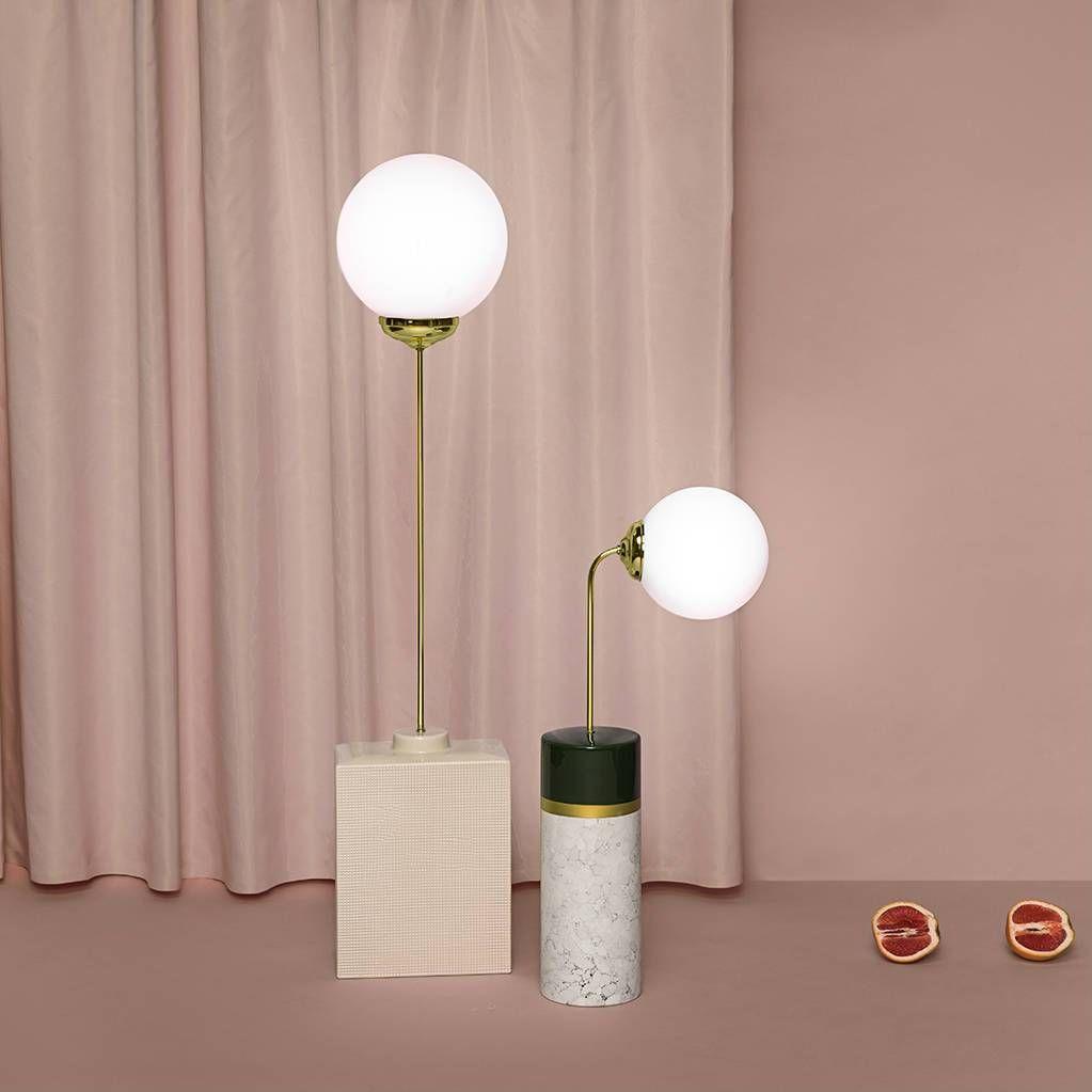 Lampe de sol Métal & Céramique Rose H145cm AVALON SQUARED