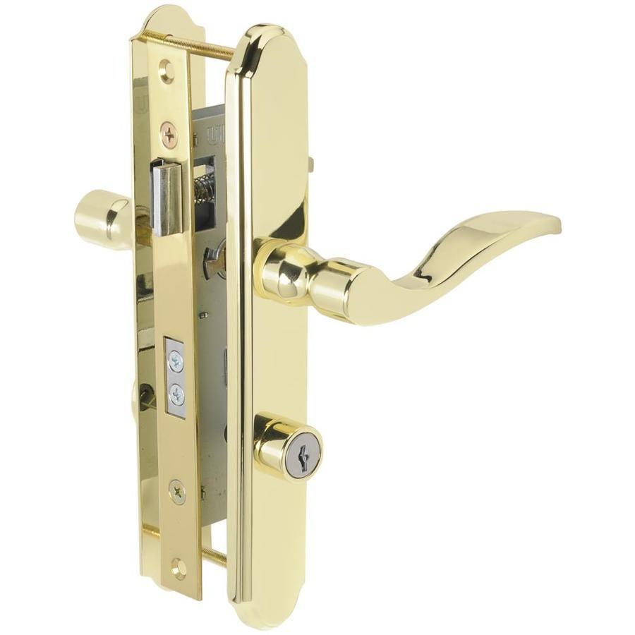 Wright Products 7 In Keyed Polished Brass Screen Door And Storm Door Mortise Lowes Com Storm Door Storm Door Hardware Doors