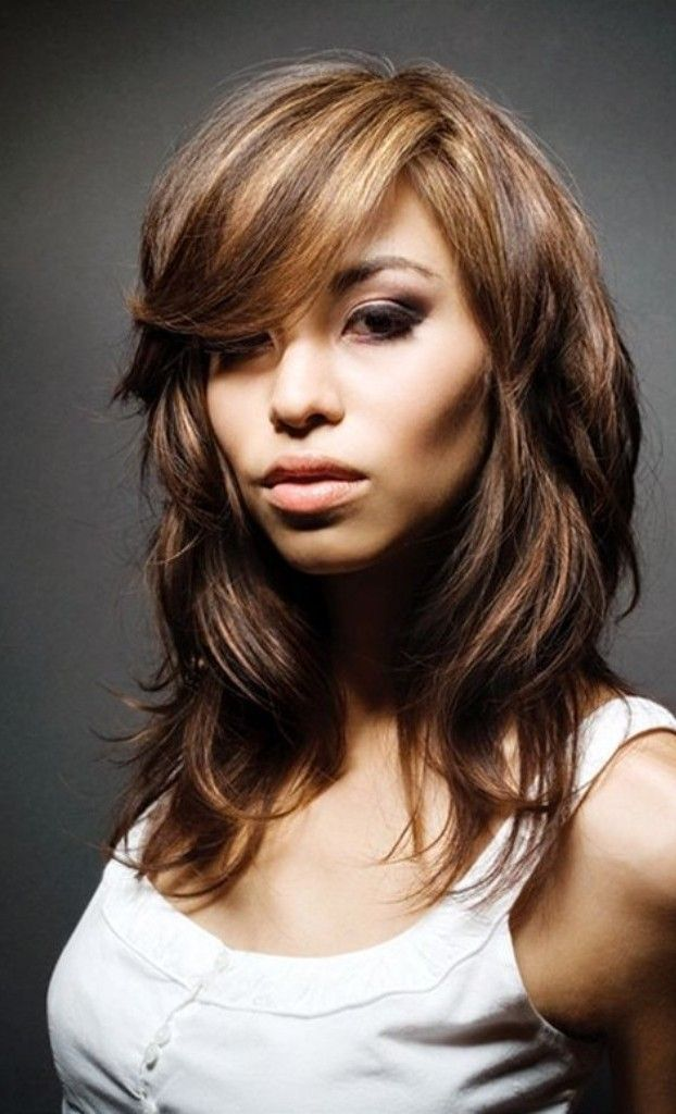 Medium Layered Hair Styles For Women This Design Are Ideal Who Have Thick Bangs Prefect You With Square Face Shape