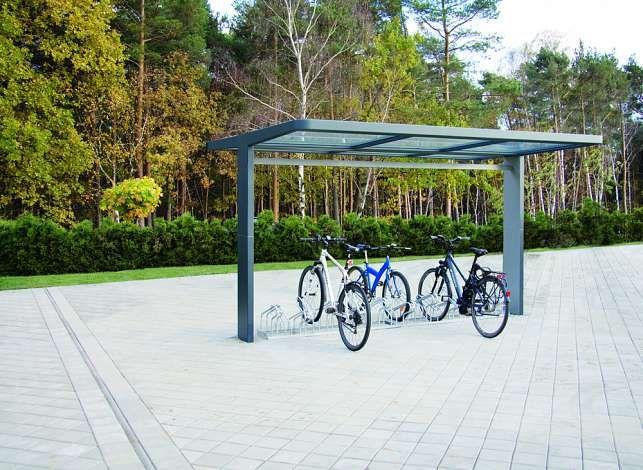 fahrrad berdachung pure dachbreite x dachtiefe 4000 mm x. Black Bedroom Furniture Sets. Home Design Ideas