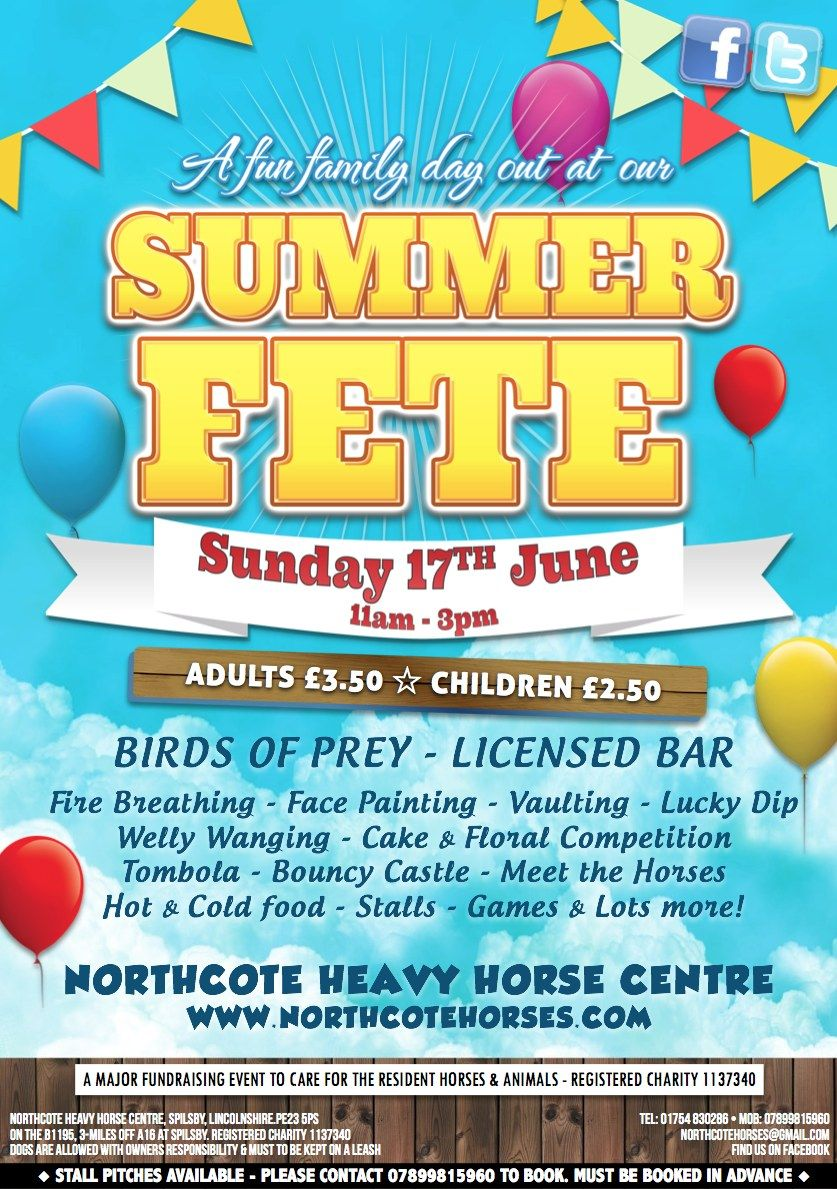 Summer Fete - Northcote Heavy Horse Centre Sunday 17th ...