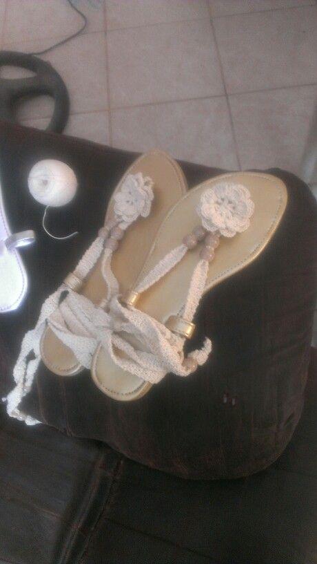 Zapatillas de playa!