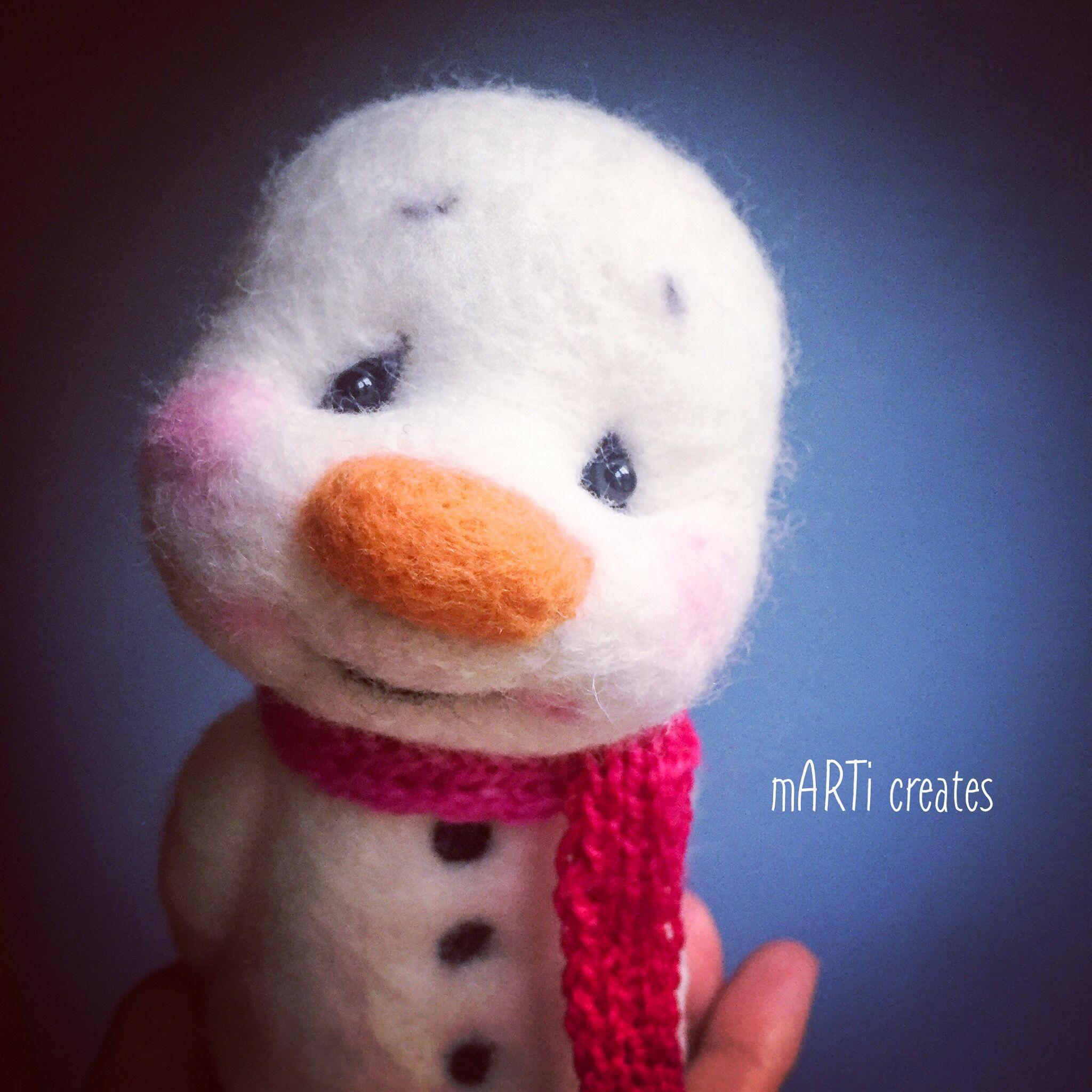 Felted snowman by mARTi creates #feltcreations