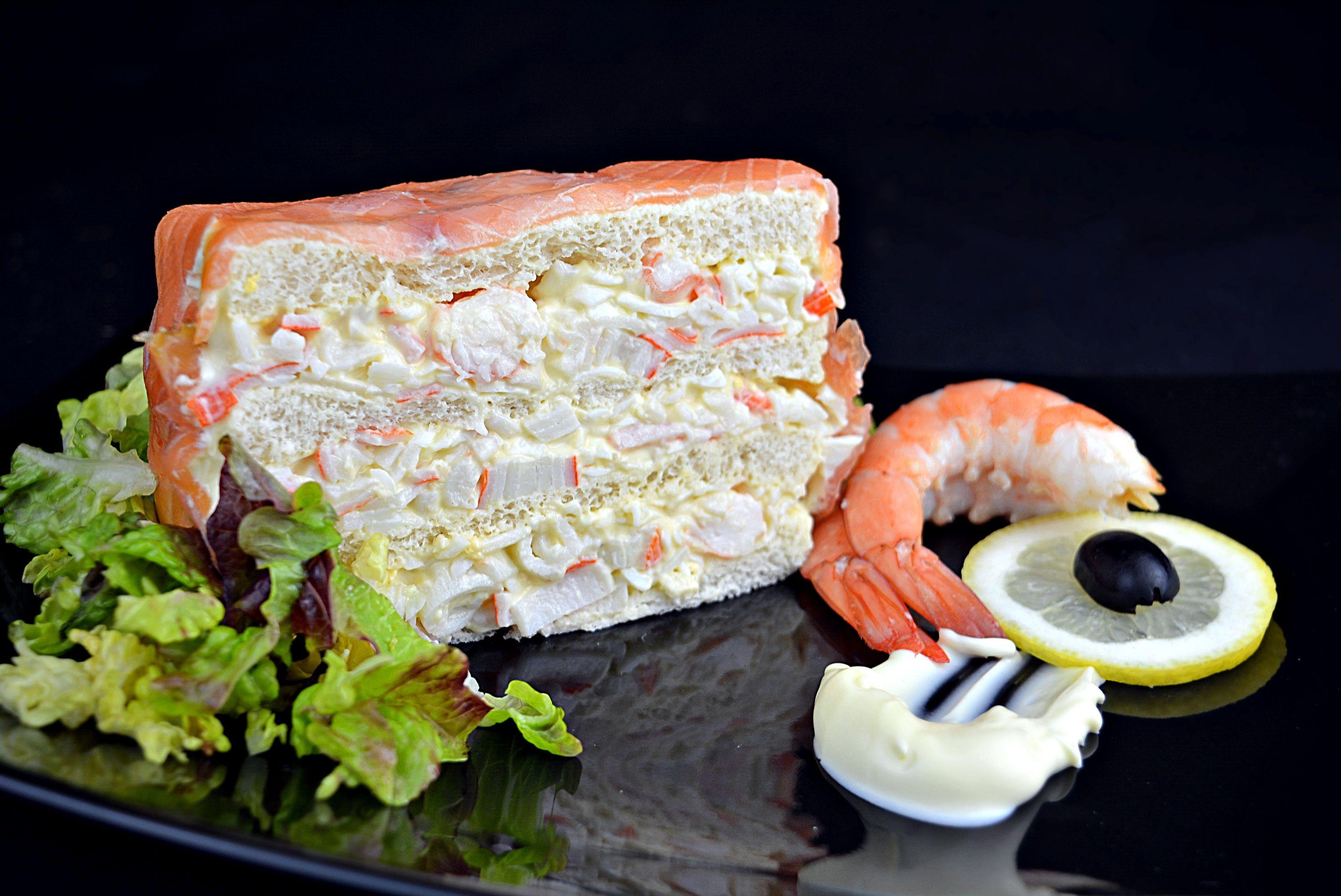 Pastel De Marisco Y Salmon Ahumado Con Pan De Molde Receta