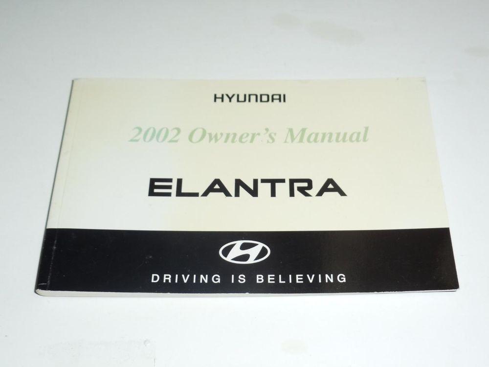 2002 Hyundai Elantra Owners Manual