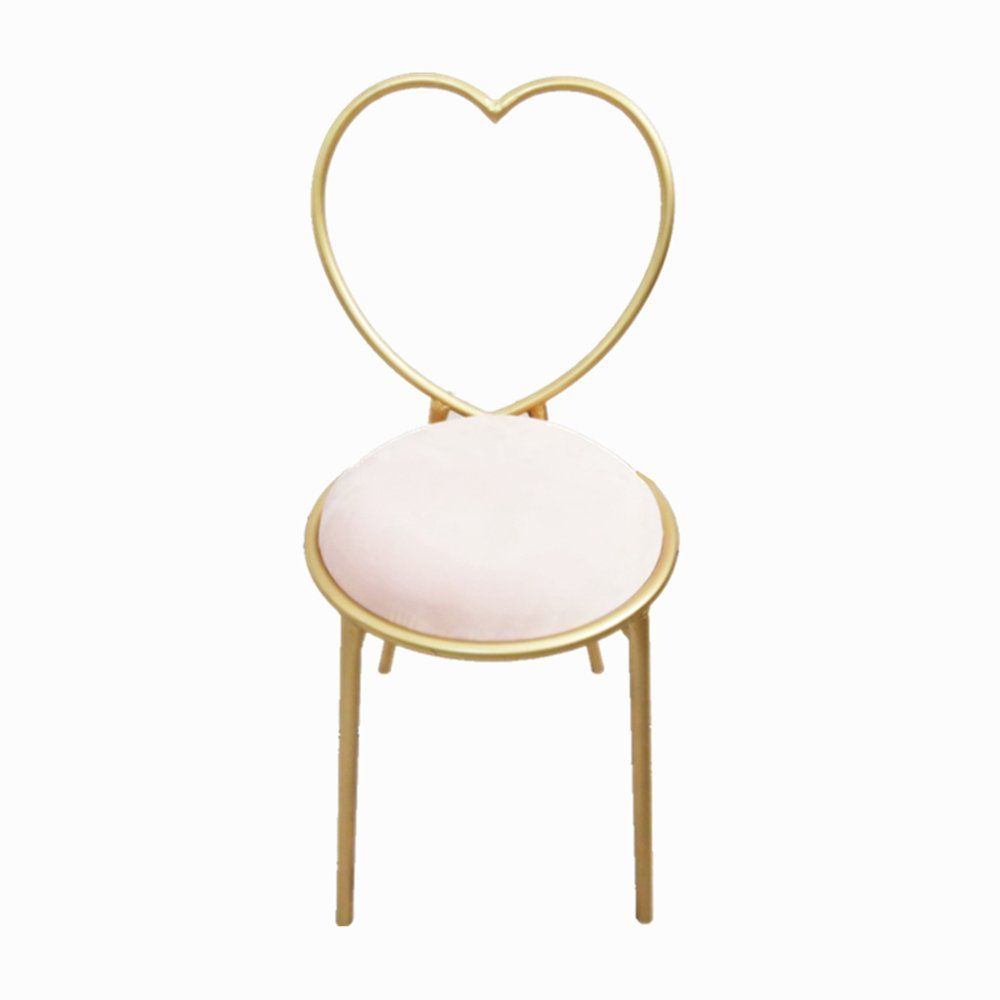 Nordic Style Minimalist Lounge Chair Gold Metal Dining Chair
