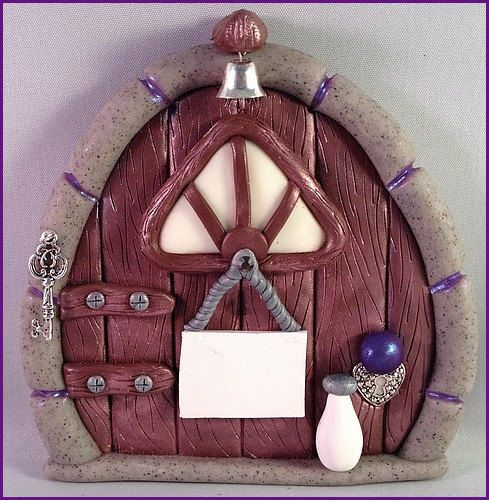 Polymer Clay Fairy Door  Stone  made to order by MistsofAzura, £15.00