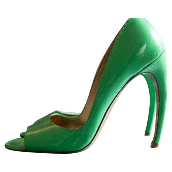 Pre-owned - Green Suede High heel Walter Steiger ml1oSv0s