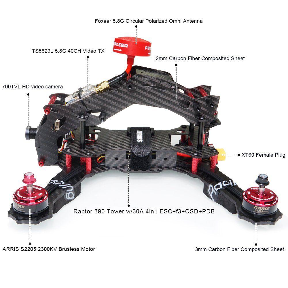 ARRIS XSpeed 280 V2 FPV Quadcopter Racing Drone RTF W