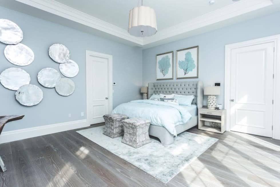 50 Blue Primary Bedroom Ideas Photos Light Blue Bedroom Blue Bedroom Walls Blue Master Bedroom