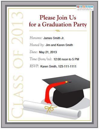 college graduation party invitation templates | invitations, Powerpoint templates
