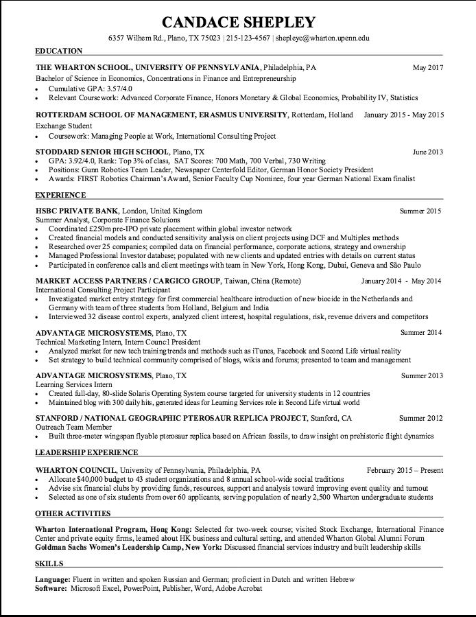 Sample Summer Analyst Resume - http://exampleresumecv.org/sample ...